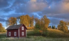 Old wooden house in Sweden Stock Image