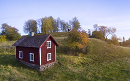 Old wooden house in Sweden Royalty Free Stock Photography