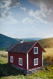 Old wooden house in Sweden Stock Photo