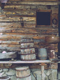 Old wooden house with tolls Stock Photos
