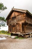 Old wooden house. Traditional old house at Skansen, the first open-air museum and zoo, located on the island Djurgarden in Stockholm, Sweden Royalty Free Stock Photo