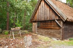 Old wooden house Stock Images