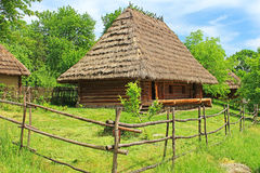 Old wooden house, Ukraine Stock Image