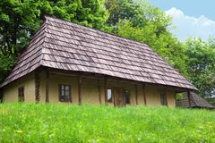 Old wooden house in village Royalty Free Stock Photography