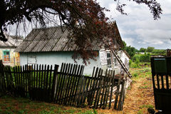Old wooden house. In village Royalty Free Stock Photos