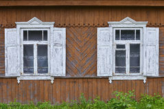Old wooden house in village Stock Photography