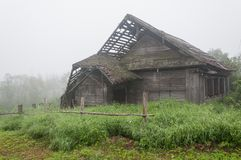 Old wooden house in village royalty free stock photos