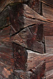 Old wooden house wall. Royalty Free Stock Images