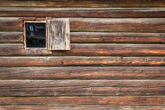 Old wooden house wall. From Maramures, one of the better-known regions of Romania, with autonomous traditions since the Middle Ages - but still not very much Royalty Free Stock Photo