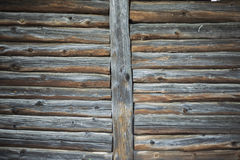 Old wooden house wall in the village Royalty Free Stock Photos