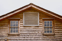 Peak wooden roof Stock Images