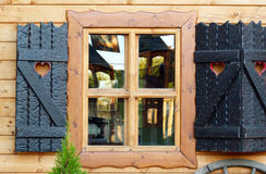 Old wooden house window Stock Image