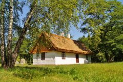 Free Old Wooden House With Straw Roof Stock Images - 41781984