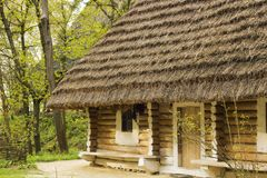 Free Old Wooden House With Thatched Roof In Village Stock Photo - 108035800