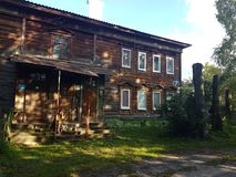 Wooden house view. Old wooden house stock photos