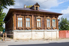Old wooden house. Yelets. Stock Images