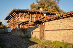 Old wooden house in Zheravna (Jeravna). The village is an architectural reserve of Bulgarian National Revival period (18th and 19t. Old wooden house in Zheravna Stock Photo