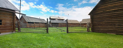 The old wooden houses royalty free stock photography