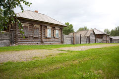 The old wooden houses Stock Photography
