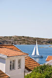 Old wooden houses. At the sea archipelago Stock Images