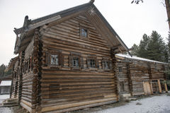 Old wooden houses in the ethno-village, Russia Royalty Free Stock Images