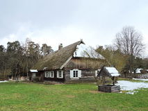 Old wooden  houses, Lithuania Stock Images