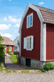 Old wooden houses in Pataholm, Sweden Royalty Free Stock Photography
