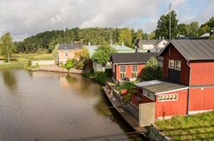 Old wooden houses in Porvoo, Finland Royalty Free Stock Image