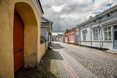 Old wooden houses in Rauma Finland Royalty Free Stock Image