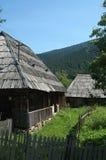 Old wooden houses in ukraine. Wonderfull tree houses in sinevirska poljana in ukraine Stock Photography