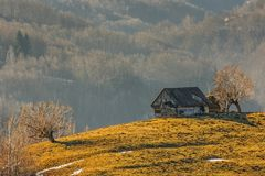 Free Old Wooden Hut Royalty Free Stock Image - 48956606