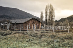 Old wooden hut cabin Stock Image
