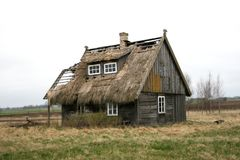 Old wooden hut Royalty Free Stock Image