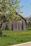 Old wooden hut. In south germany springtime blue sky sunny holiday Stock Image