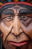 Old wooden indian mask Stock Image