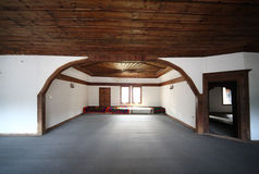 Old wooden interior. Very old wooden house interior Royalty Free Stock Images