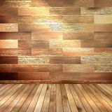 Old wooden interior room. EPS 10 Royalty Free Stock Photo