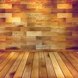 Old wooden interior room with a shelfs. EPS 10 Royalty Free Stock Photo