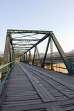 Old wooden and iron bridge Royalty Free Stock Image