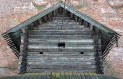 Old wooden izba Stock Photo