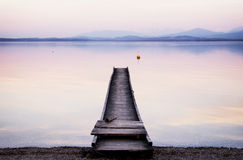 Old wooden jetty Stock Photos