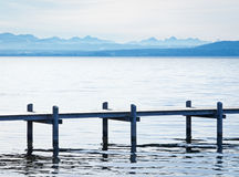 Old wooden jetty Royalty Free Stock Photos