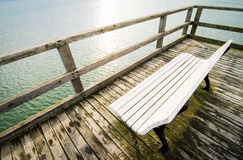 Old wooden jetty Royalty Free Stock Images