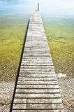 Old wooden jetty Stock Image