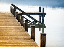 Old wooden jetty Stock Images