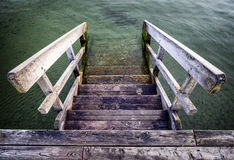 Old wooden jetty Royalty Free Stock Image