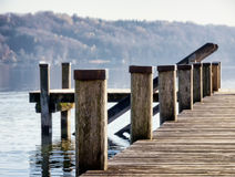 Old wooden jetty Royalty Free Stock Photography