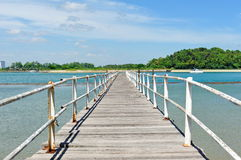 Old wooden jetty of St John Island Royalty Free Stock Image
