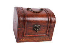 Old wooden jewelry box Royalty Free Stock Image