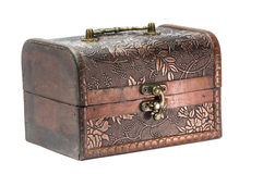 Old wooden jewelry box Royalty Free Stock Images
